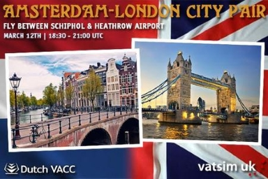 Amsterdam - London City pair Banner