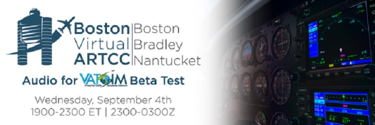 Audio for VATSIM Open Beta / Boston Banner
