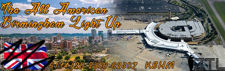 The All American Birmingham Light Up Banner