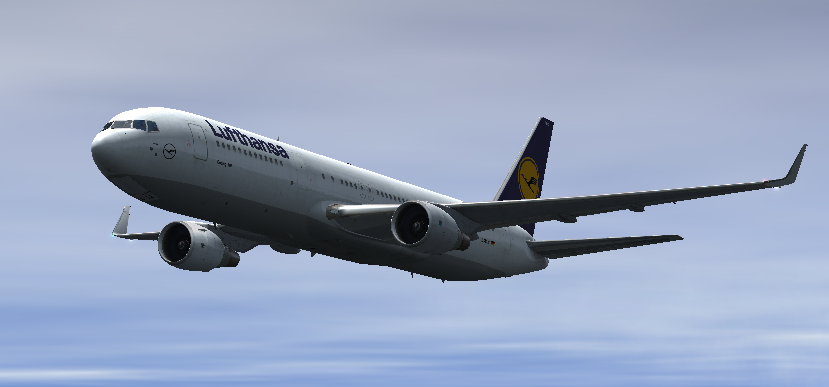 Lufthansa 767 Over the South China Sea