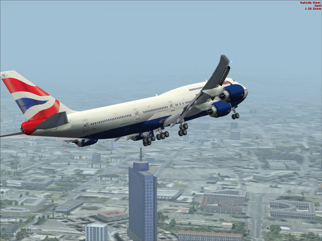 Delta Virtual Airlines Water Cooler - 747-8 turns to ILS 5R approach