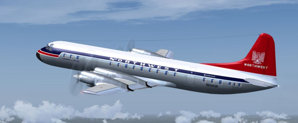 Some 1966 Northwest L-188 Electra Commuter Routes Added