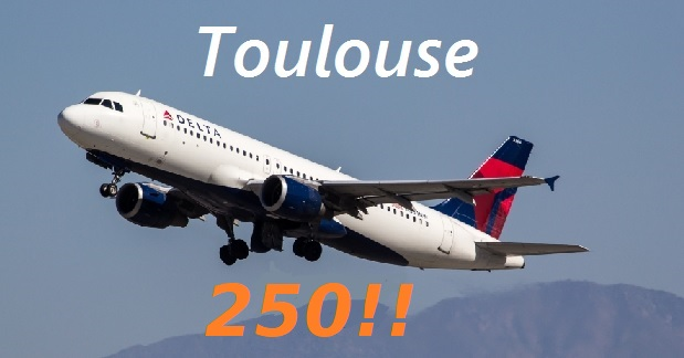 Jeff Craycraft has joined the Toulouse 250 Club!!
